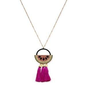 INC Watermelon Tassel Necklace